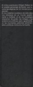 """Solapa de Portada del Libro """"Un hombre providencial"""" (2da Edición)"""